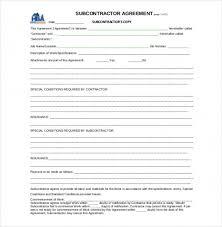 Sample Subcontractor Agreement Extraordinary Download Now 44 Subcontractor Agreement Templates Free Sample