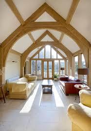 extension timber frame oak frame green oak arch brace truss carpentry