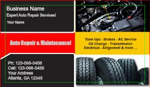 Auto Repair Business Card Templates Designsnprint