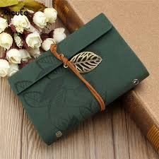 new sketchbook stationery agenda vine diary notebook writing pockets book leaf leather cover loose blank travel