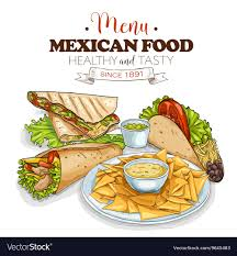 mexican food menu. Wonderful Food Mexican Food Menu Vector Image And Food Menu