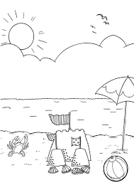 Small Picture Free Online Beach Colouring Page Kids Activity Sheets