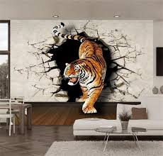 3d photo wallpaper custom mural room non woven tigers down the wall 3d painting on wall