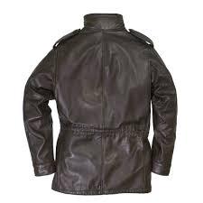 leather m 65 field jacket back