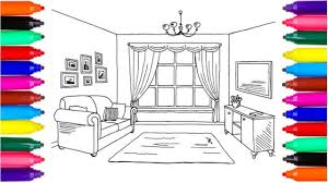 Living Room Coloring Coloring Pages Living Room Drawing Pages To Color For Kids