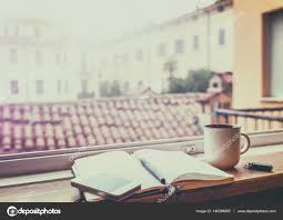 european cup office coffee. Morning Coffee At The Window With A View Of European City. M \u2014 Stock Cup Office