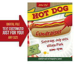 Picnic Flyers Hot Dog Flyer Template Hot Dog Fundraiser Event Hot Dog Lunch Picnic