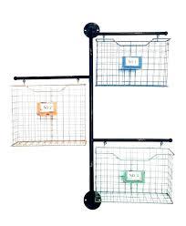 wall mount file organizer folder holder rack mounted