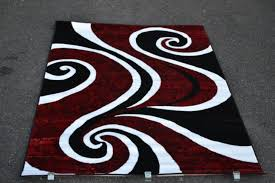 5 gallery red and white area rugs