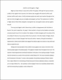 night essay conflict in night conflicts and struggles in  this preview has intentionally blurred sections sign up to view the full version