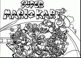 Small Picture remarkable super mario bros coloring pages with mario kart