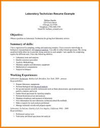12 Clinical Laboratory Technician Resume Resume Cover Note