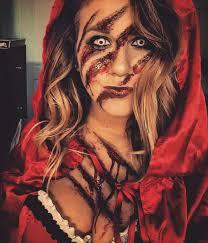 halloween makeup red riding hood