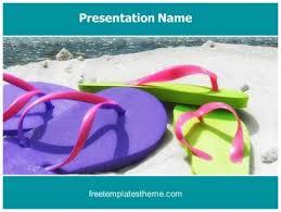 Free Summer Beach Powerpoint Template Freetemplatestheme Com