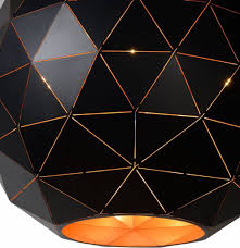 pendant light geometric light shade black gold white