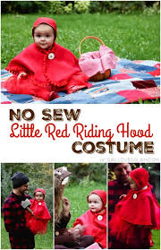 no sew little red riding hood costume for baby on girllovesglam com