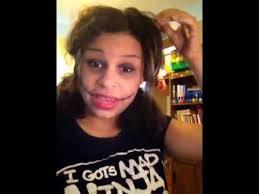 creepy gothic rag doll makeup tutorial