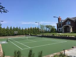 Post Tensioned Tennis Court Design Tennis Court Resurfacing Repair Greenwich Connecticut