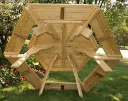 lovely round picnic table plans glamorous woodworking awesome octagon tables of office trendy round picnic table
