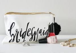 bridesmaid makeup bag bridesmaid gift maid of honor gift favor bags gift bags bridal party bags bride bag wedding makeup bag