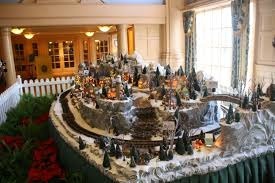 The Yacht Club's main Christmas attraction is this miniature train set.