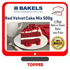 Bakels Premium Red Velvet Cake Mix 500g Tepung Kek Red Velvet Bake
