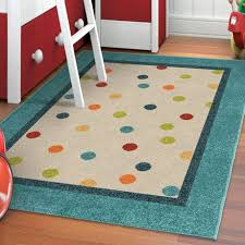 orian rugs polka teal area rug image 1 of 3