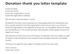 Donation Letter Example Gorgeous How To Write A Thank You For Donation Letter Template Donations Form