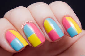 DIY Nail Art: A Colorblock Manicure With Mod Appeal (PHOTOS ...