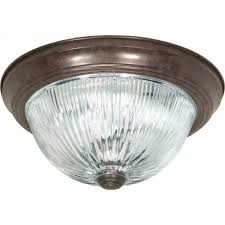 glomar tony 3 light old bronze flush mount