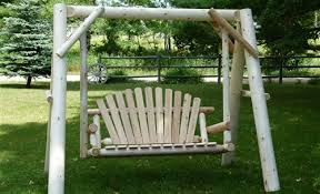 cedar log swings rustic log glider