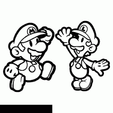 Mario Bros Free Printable Coloring Pages For Kids