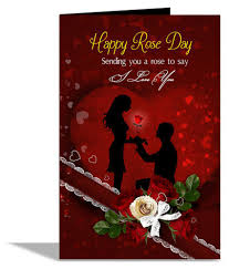 alwaysgift sending you a rose to say i love u rose day greeting card her