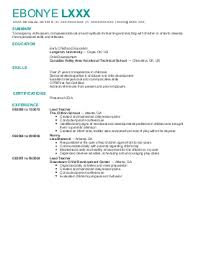 Daycare Worker Resume Resume Examples
