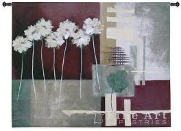 modern decor tapestry wall hanging contemporary crimson fine art picture h42 x w53