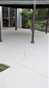 woohoo our painted concrete patio is