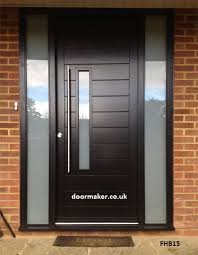 contemporary door framed horizontal boarded black left vision and frame with sandblast sidelights fhb15 frame sizes 1595mm x 2310mm here for more