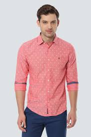 Louis Philippe Sport Shirts Louis Philippe Peach Shirt For Men At Louisphilippe Com