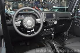 jeep wrangler 2015 black. jeep wrangler black edition ii dashboard at the 2015 geneva motor show