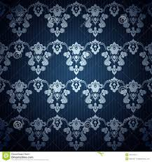 Naadloos Donkerblauw Behang In Retro Stijl Vector Illustratie