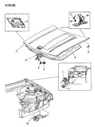 1991 dodge shadow hood hood release diagram 000007so