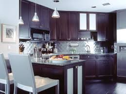 kitchen backsplash glass tile dark cabinets. Modern Kitchen Backsplash Dark Cabinets Glass Tile W