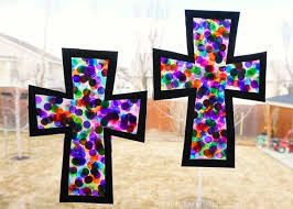 stained glass cross craft i heart