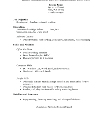 Resumes Resume Example For High School Student Template Canada