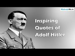 Hitler Quotes Delectable Inspiring Motivational Quotes Of Adolf Hitler YouTube