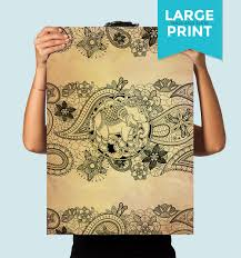 boho print paisley elephant art print ilration art