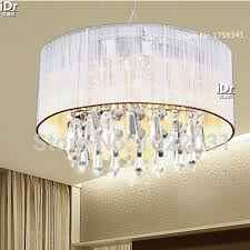 luxury lamp 300mm diameter handmade cloth k9 crystal ceiling lights modern restaurant lights free delivery cheap ceiling lighting