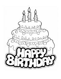 Small Picture Birthday Cake Coloring Page Coloring Pages Online