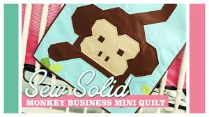 Monkey Business Mini Quilt: Easy Quilting Tutorial with Kimberly ... & Monkey Business Mini Quilt: Easy Quilting Tutorial with Kimberly Jolly of  Fat Quarter Shop - YouTube Adamdwight.com