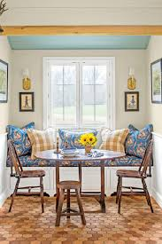 Blue and Yellow Kitchen Dining Nook